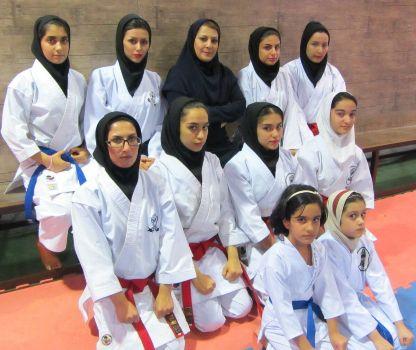 کاراته بانوان شهرستان بندر ماهشهر